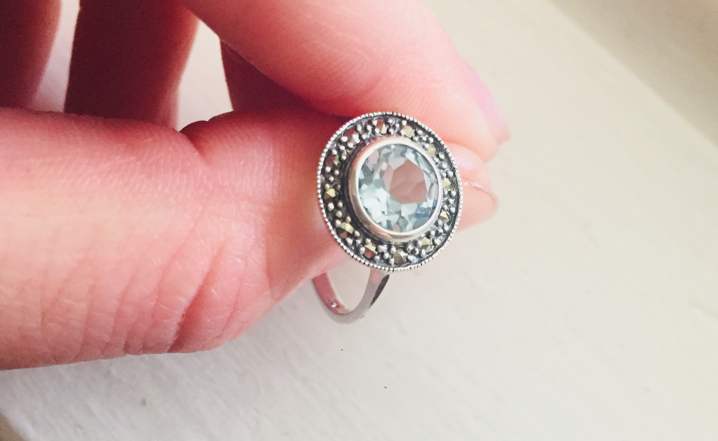 Blue Topaz E-Ring/Re-setting Question — The Knot