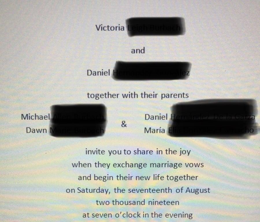 Invitation Wording Deceased Parent The Knot Community