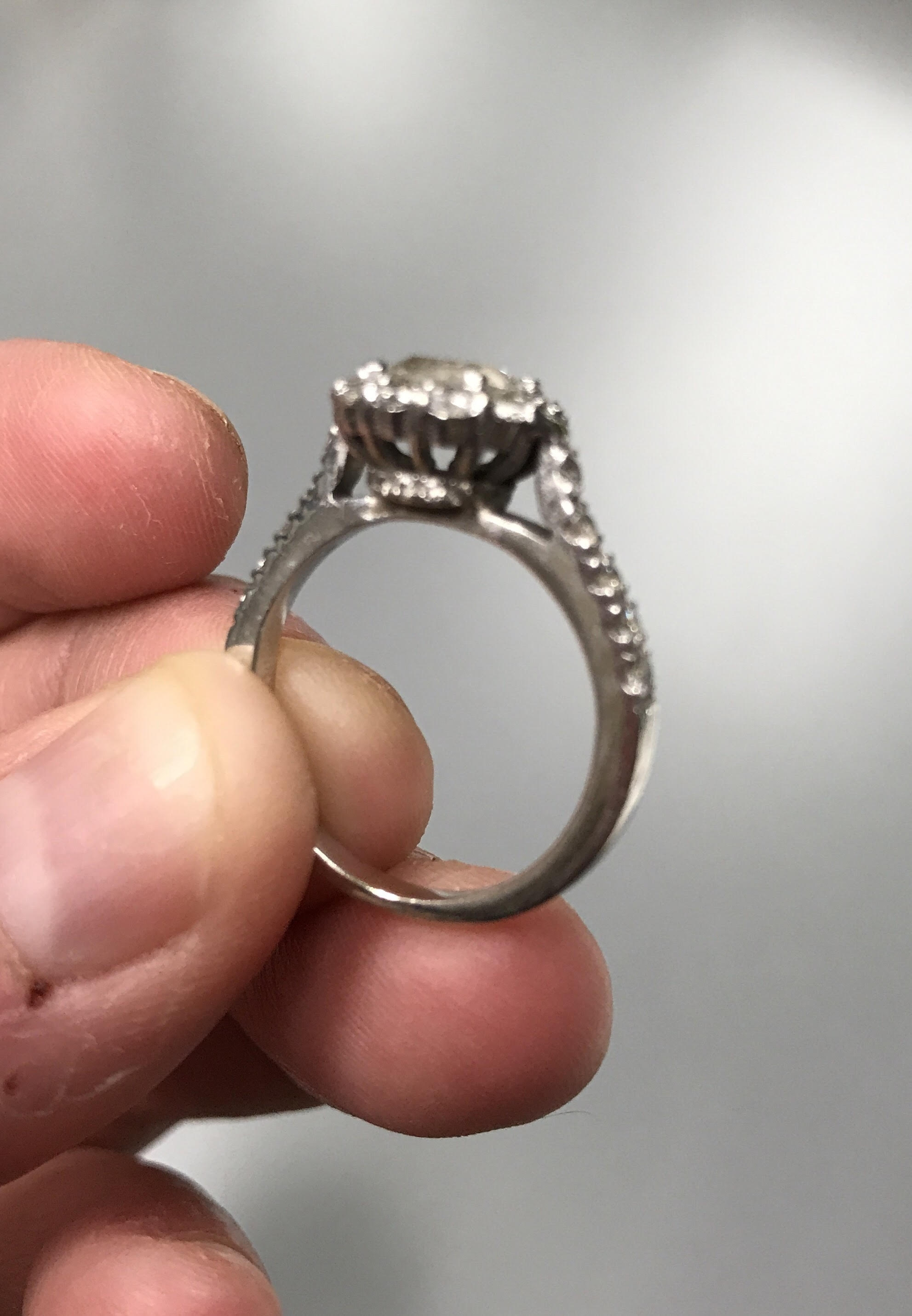 wedding band made to fit e ring — The Knot