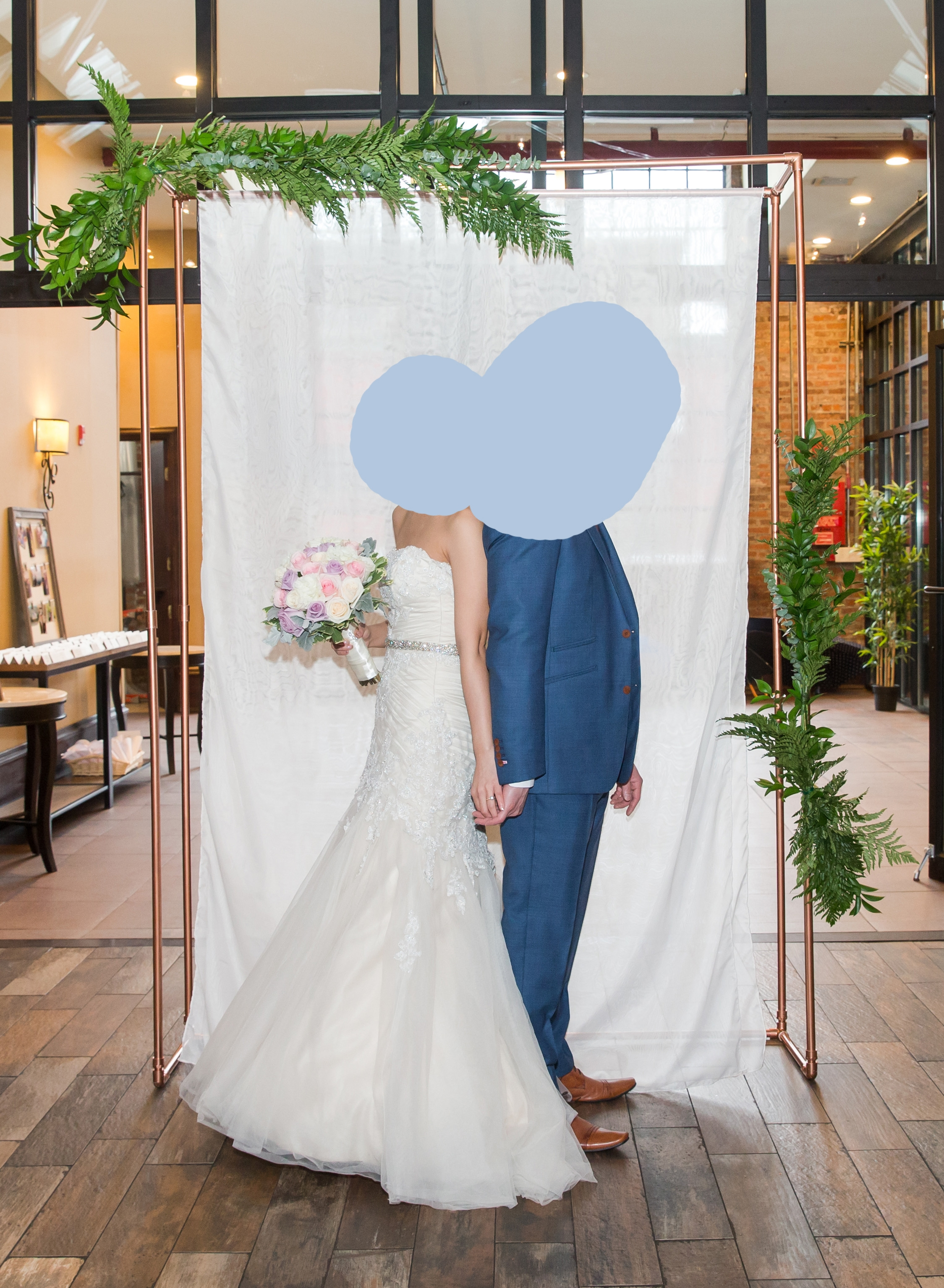 Wedding Arch Was Built From Scratch For Our Diy Pvc Pipes Were Measured Cut Spray Painted And Designed Easy Transport