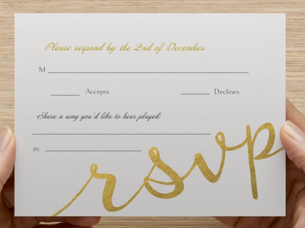 Song Request On RSVP The Knot