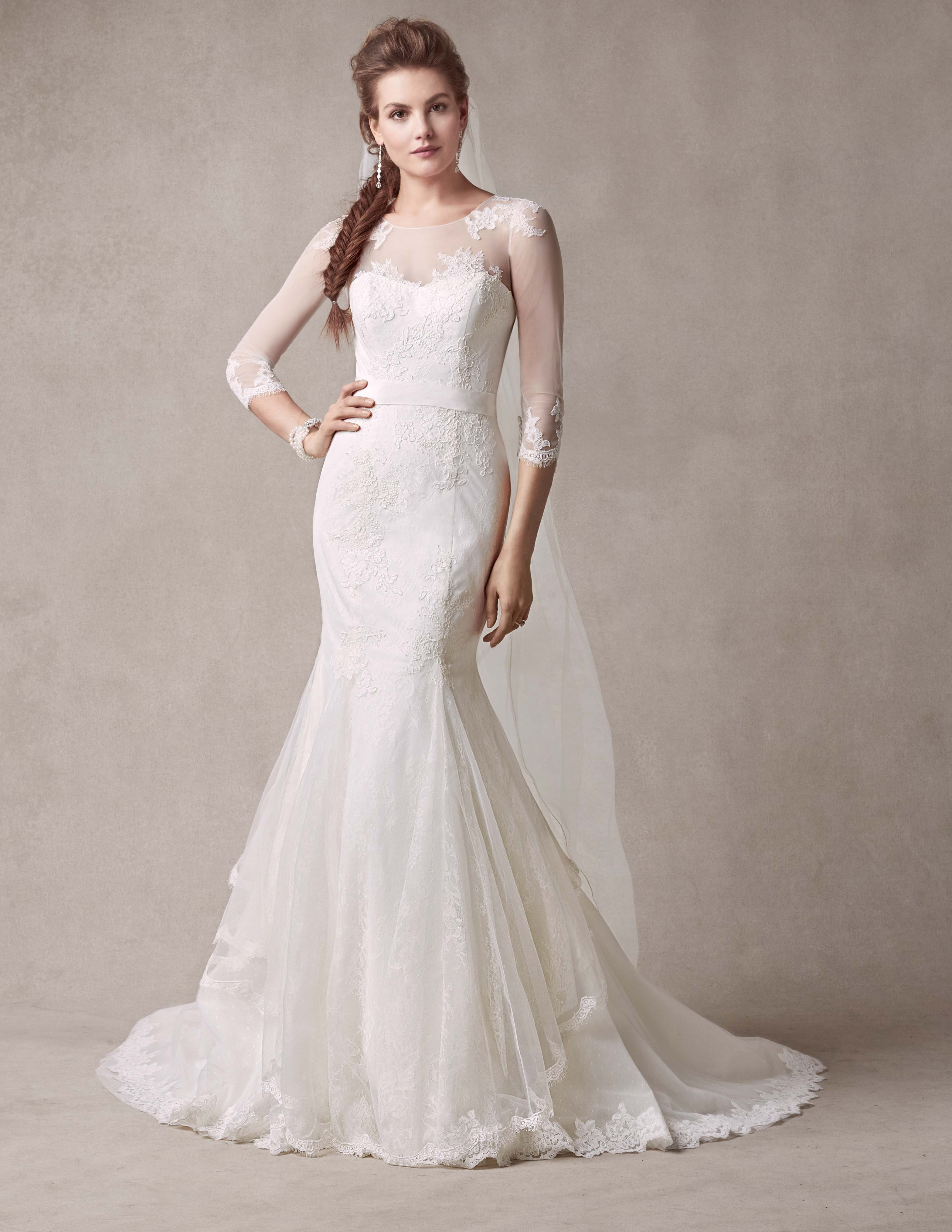 Selling melissa sweet wedding dress style ms251089 for Wedding dress with illusion sleeves