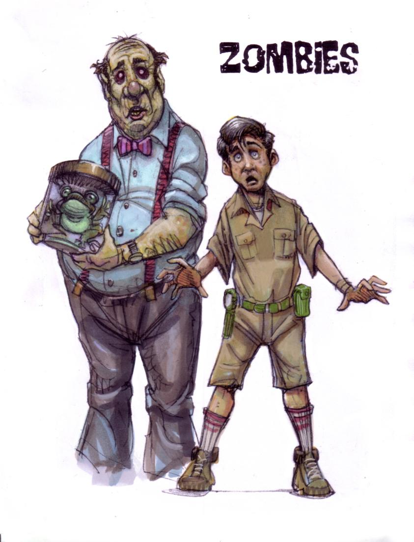 Character Design Zombie : Zombie character design sketches — stan winston school of