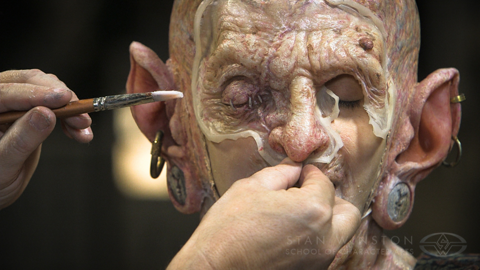 Character Makeup - Multi-Piece Prosthetic Application