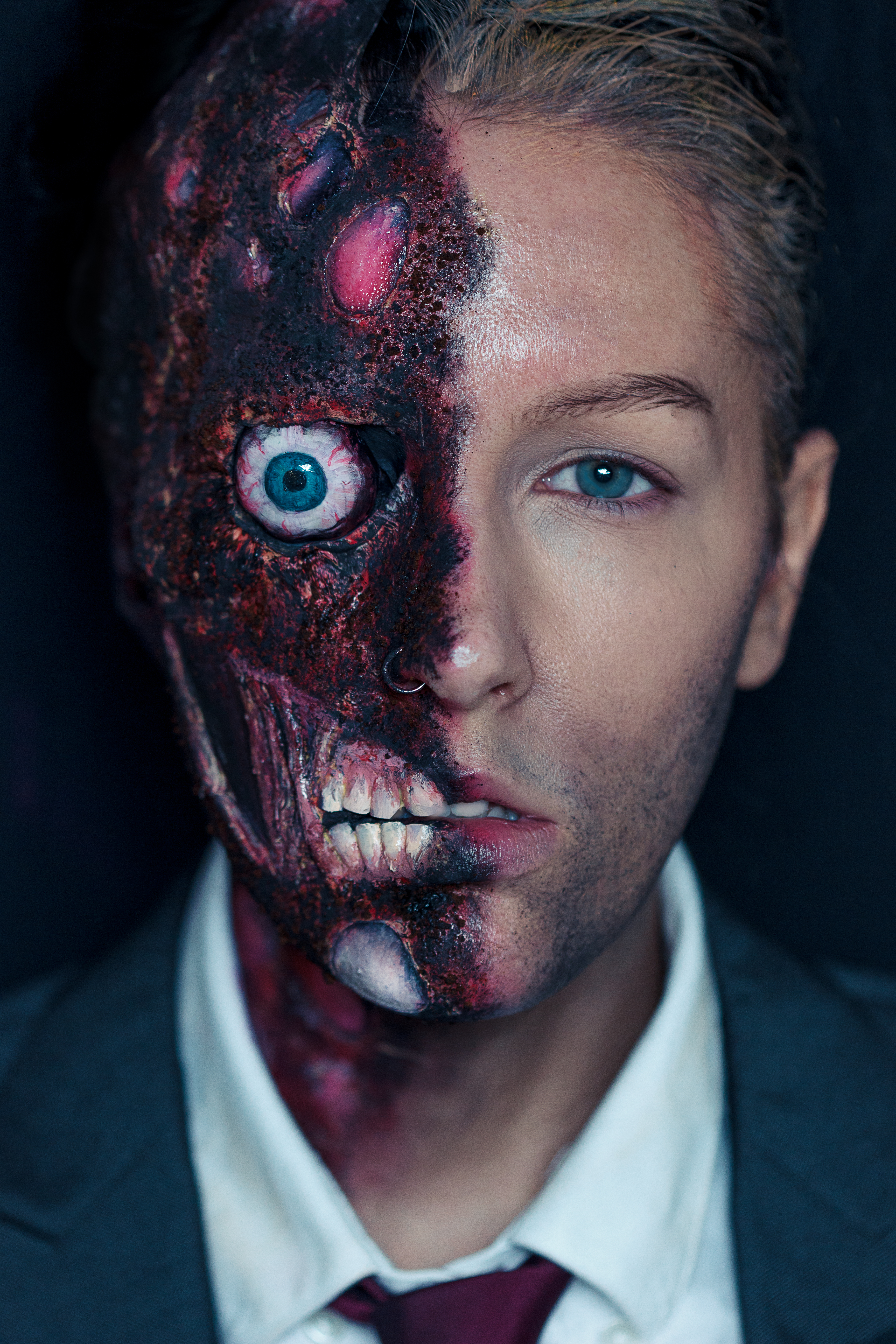 Two Face / Harvey Dent Make Up — Stan Winston School of