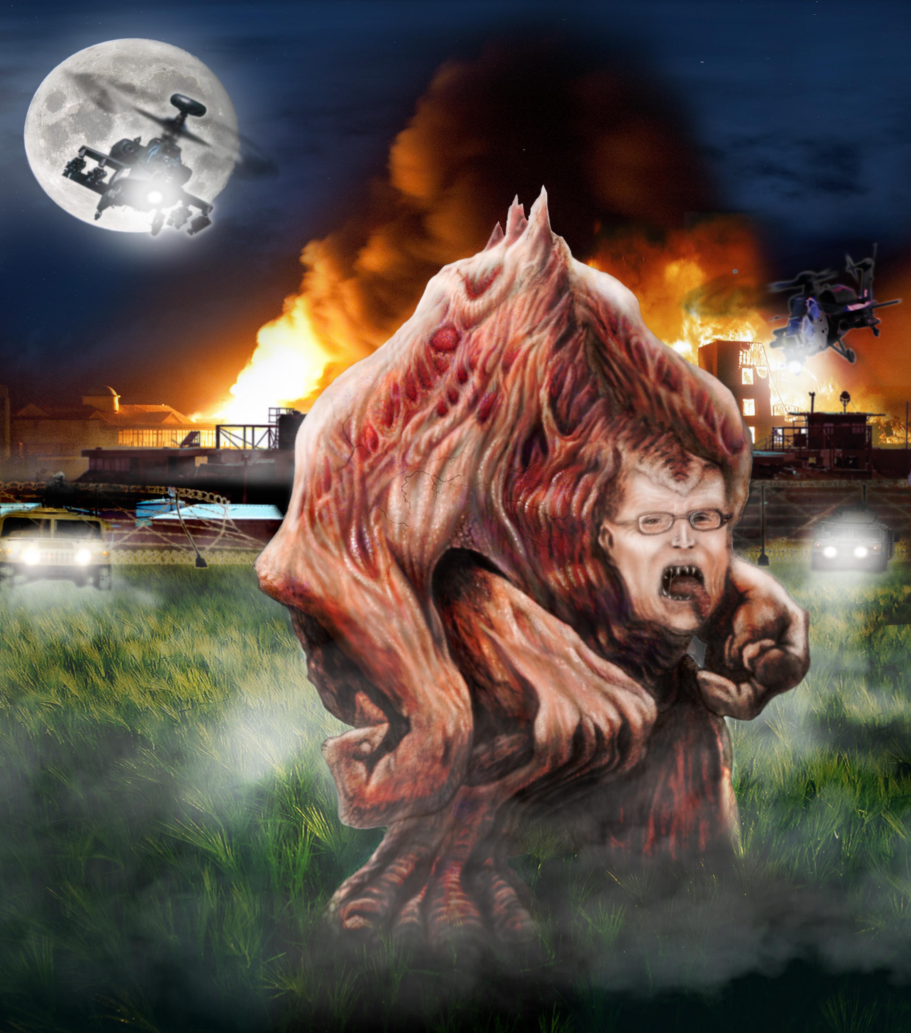 Massive mutant creature 2D process — Stan Winston School of