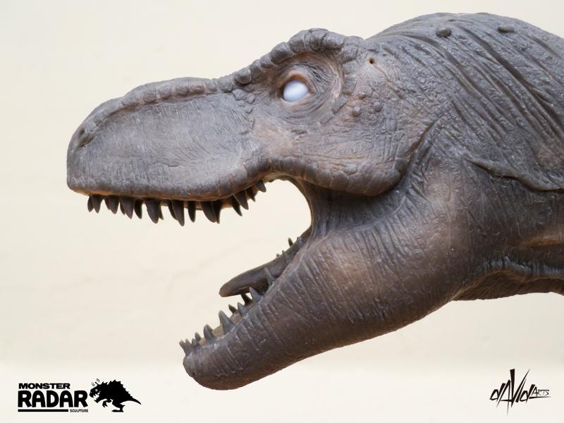 mosasaurustrexvelociraptor head � stan winston school