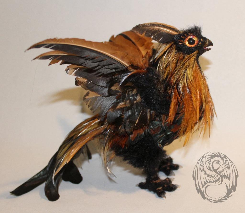 Poseable Golden Phoenix