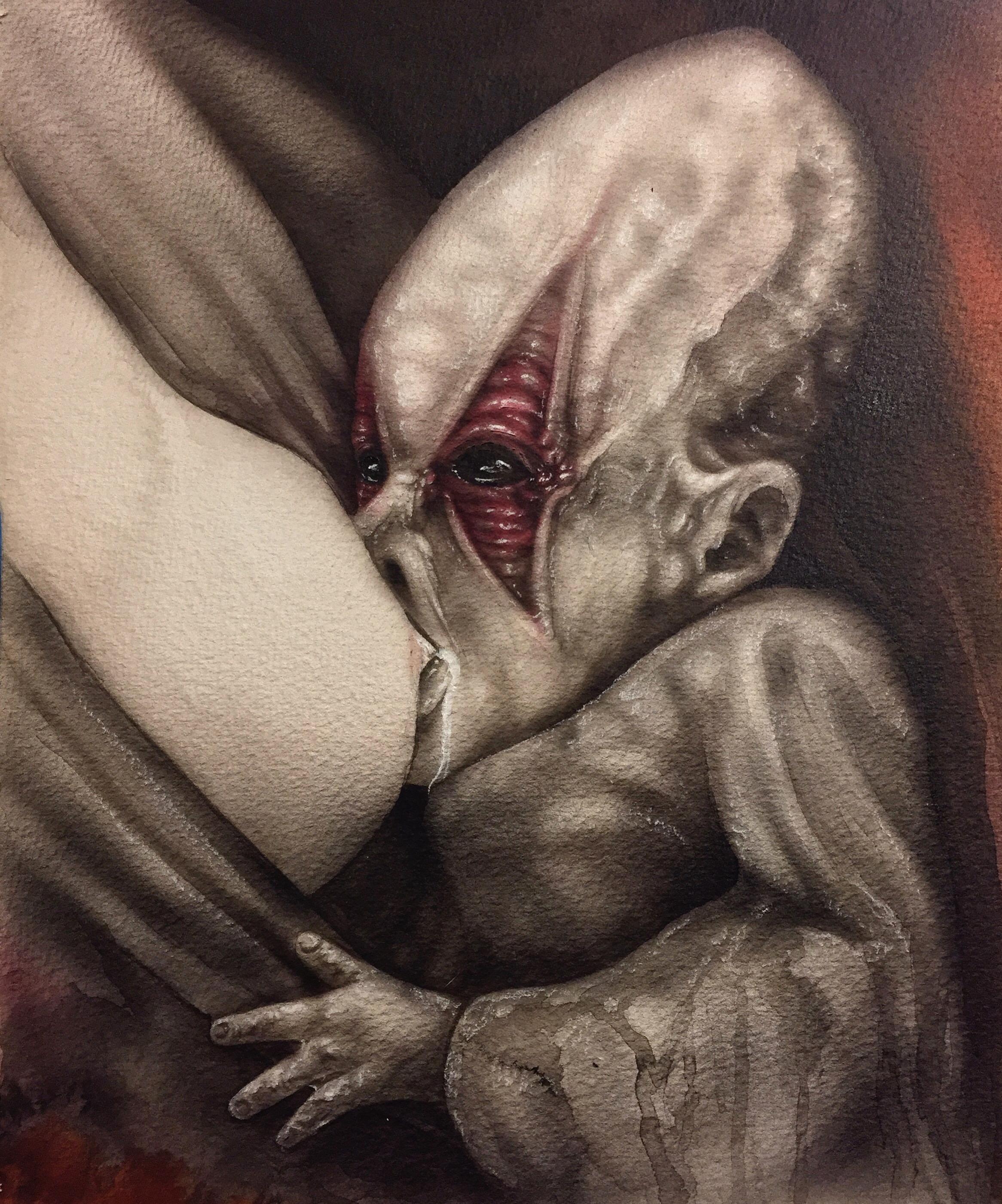 Alien baby feeding — Stan Winston School of Character Arts