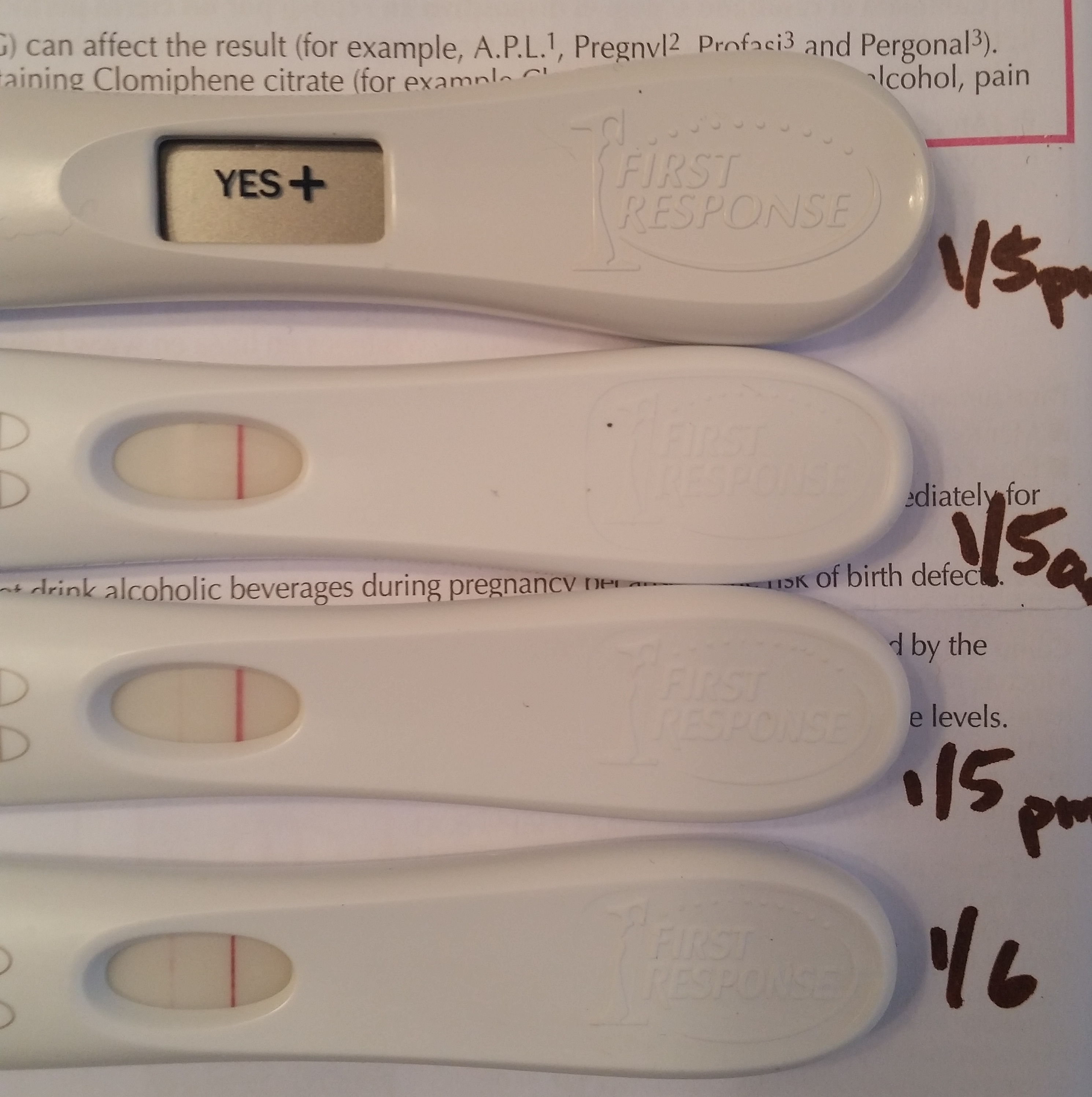 what does a positive pregnancy test really look like page 9