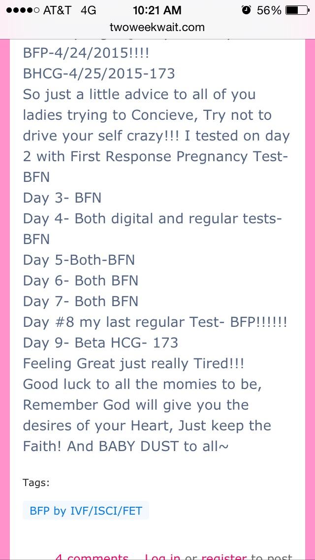 Earliest u got ur BFP? — The Bump