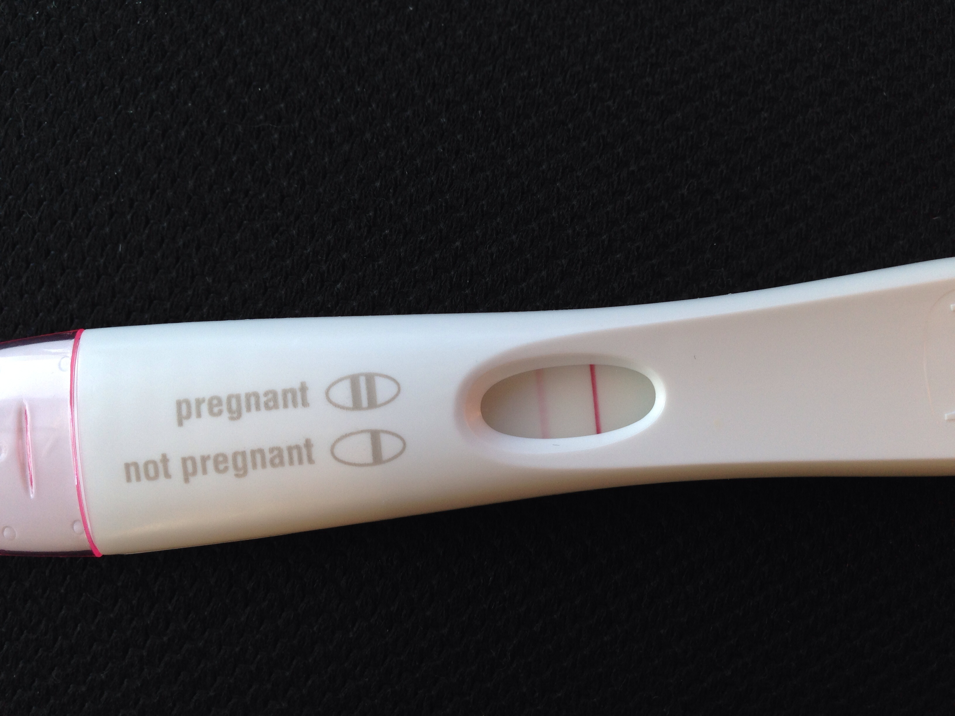 Light red line first response pregnancy test — The Bump
