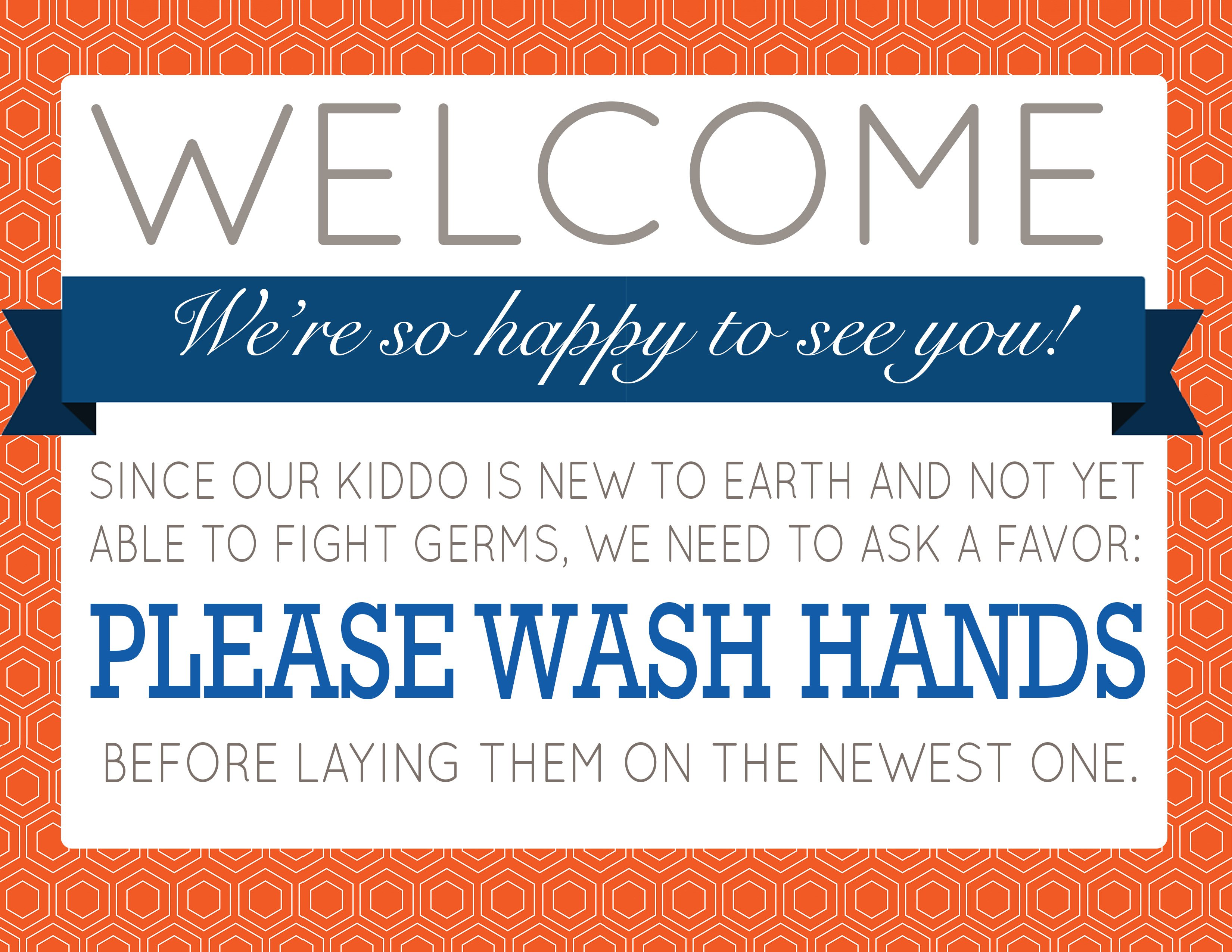 Printable: Signs asking visitors to wash hands — The Bump