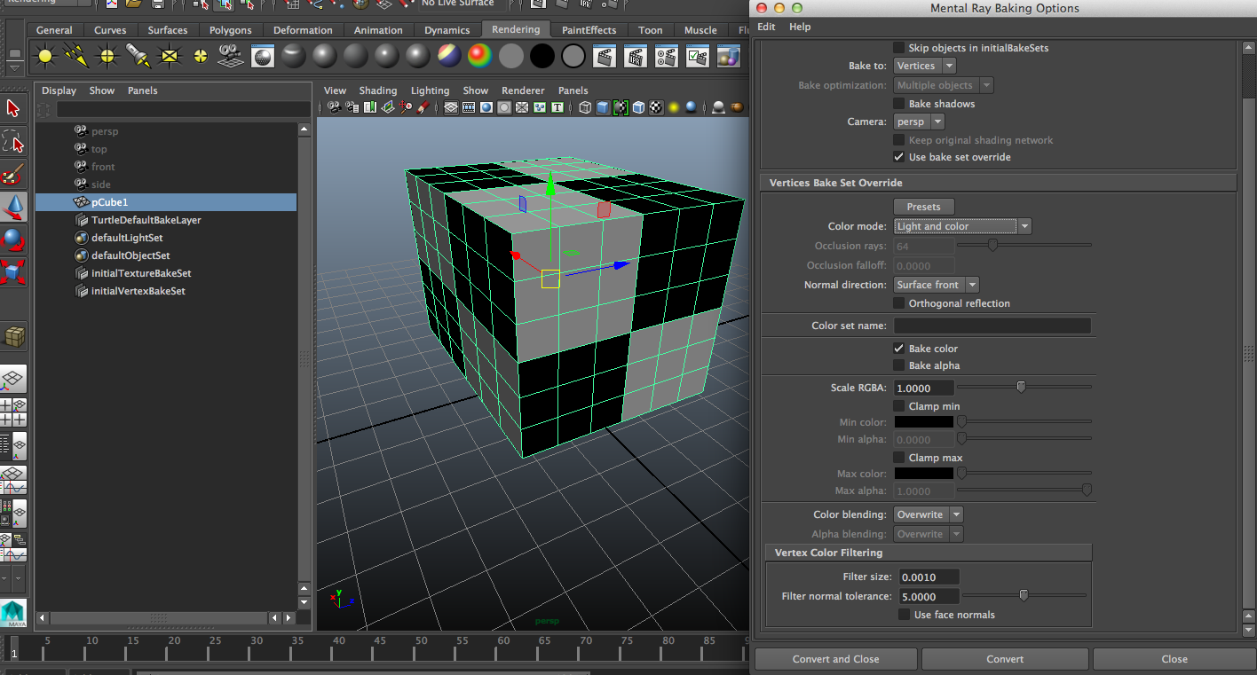 Maya Bake Vertex Color, One Color Per Polygon — polycount
