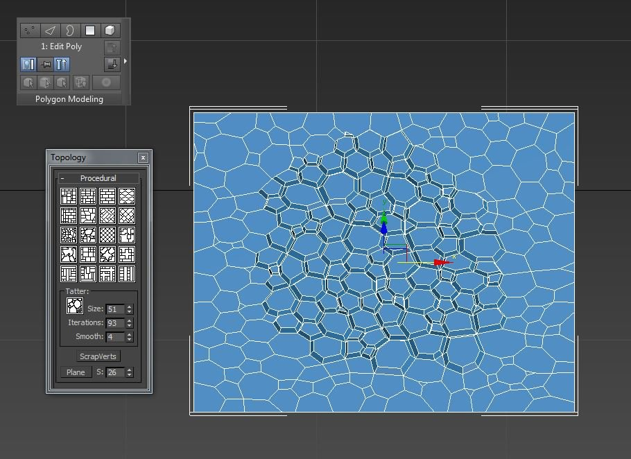 Max Topology script — polycount