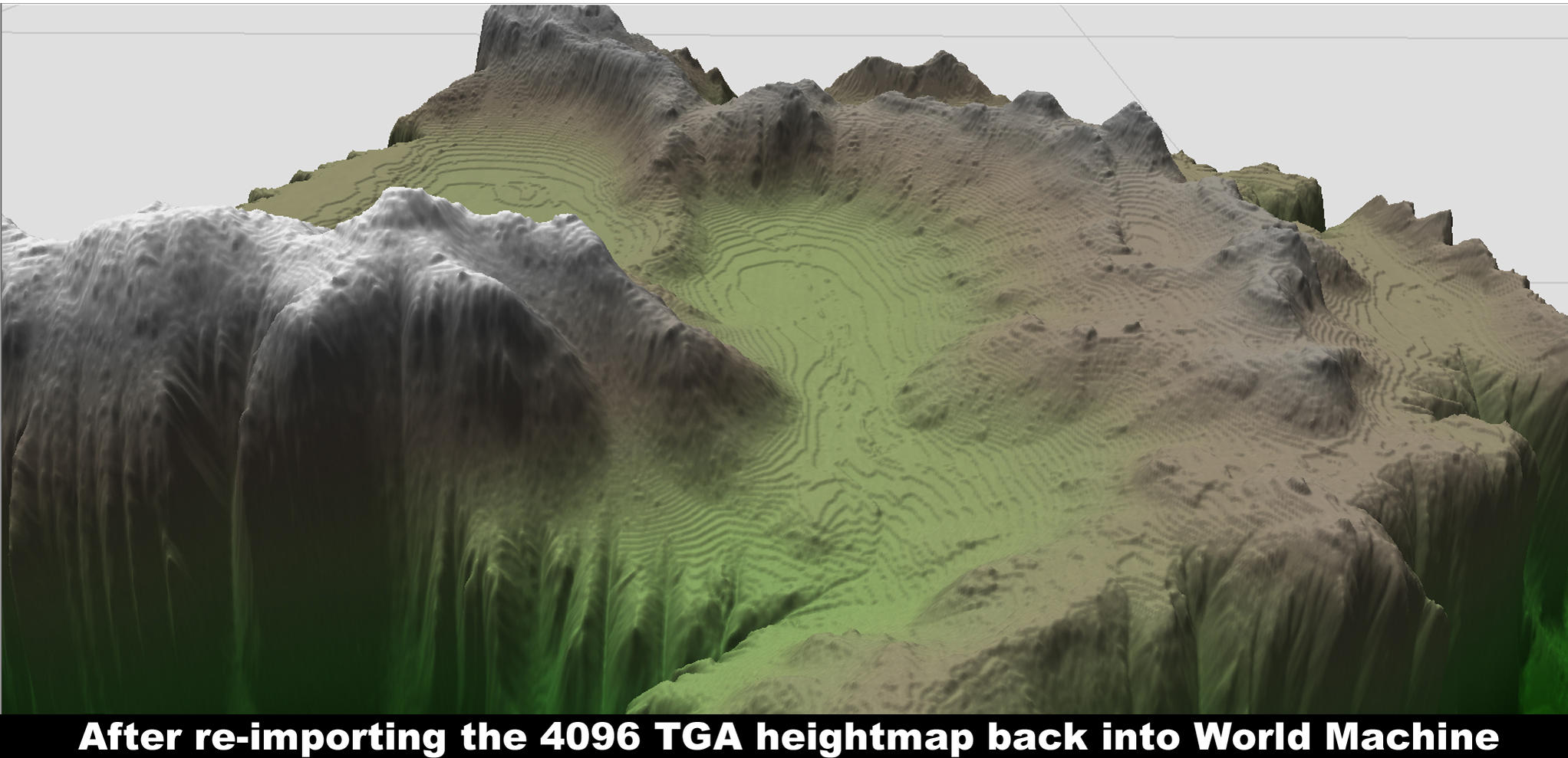 Height Maps Issues Polycount - Us mountain ranges by height map