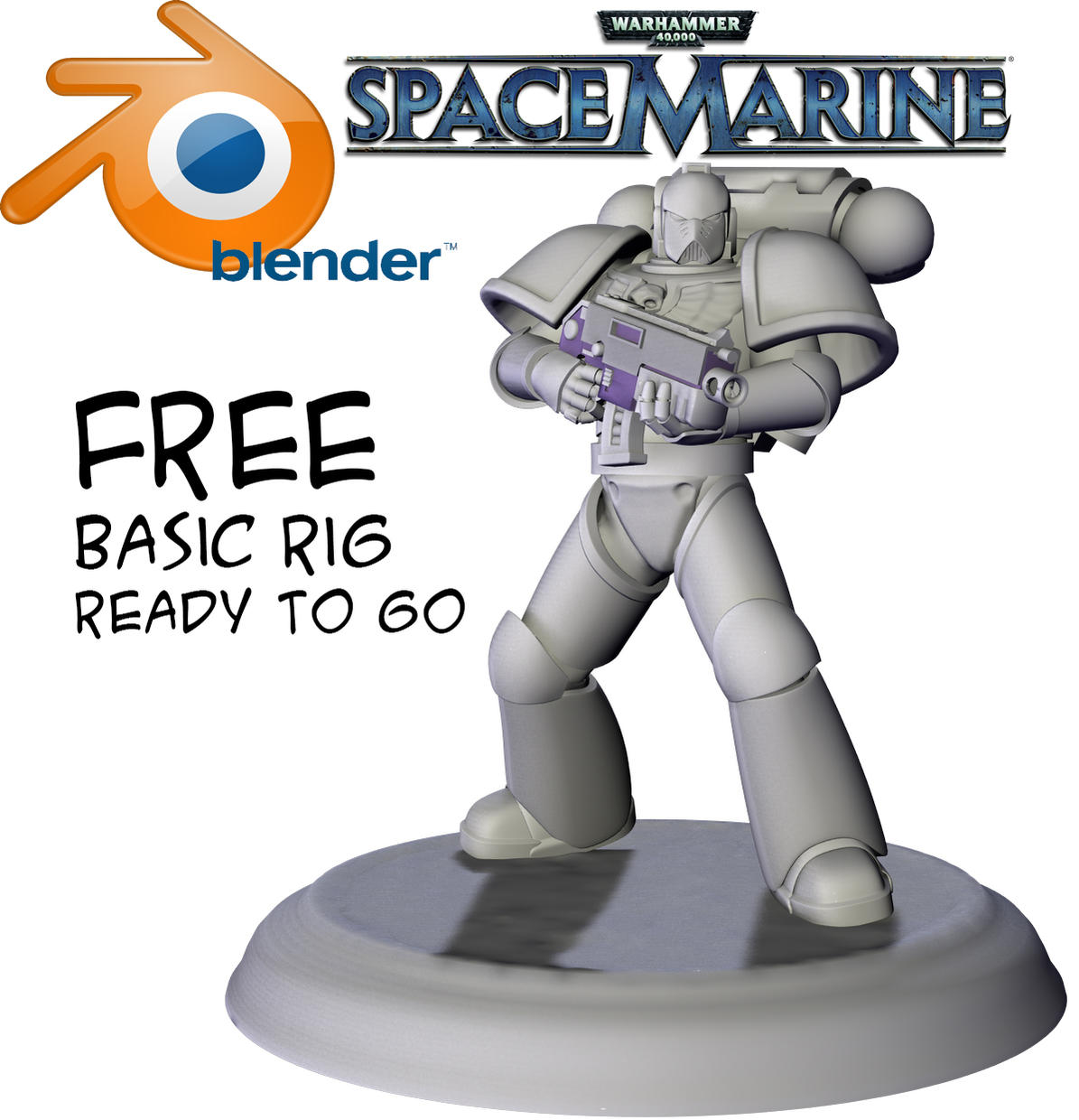 Free Blender Based SpaceMarine (free model download) — polycount
