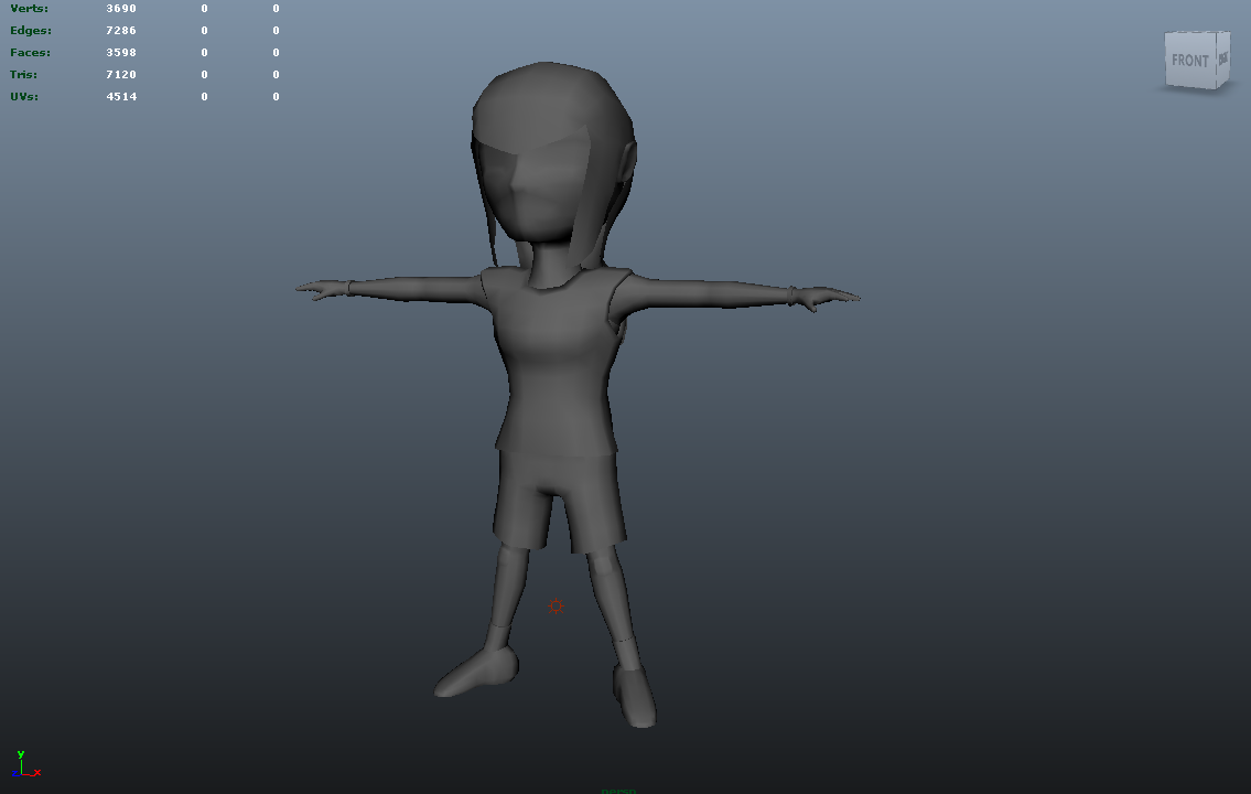 Maya - Rigging character with separate body parts — polycount