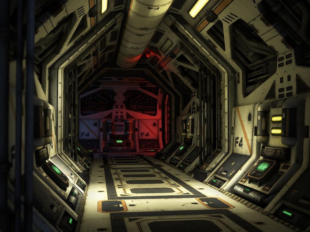 Sci Fi Corridor Habitat And Base Polycount