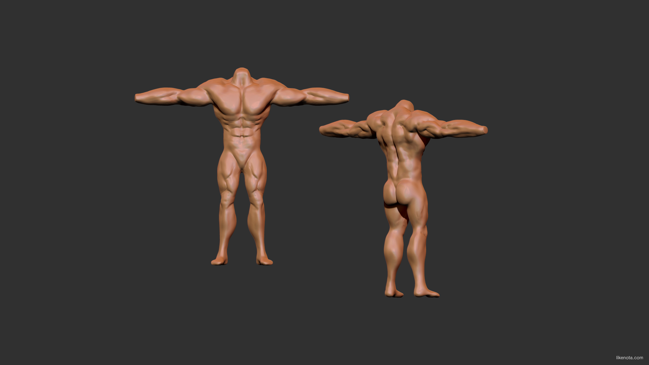 Anatomy Sculpting!! Ripped dude comparison. WIP — polycount