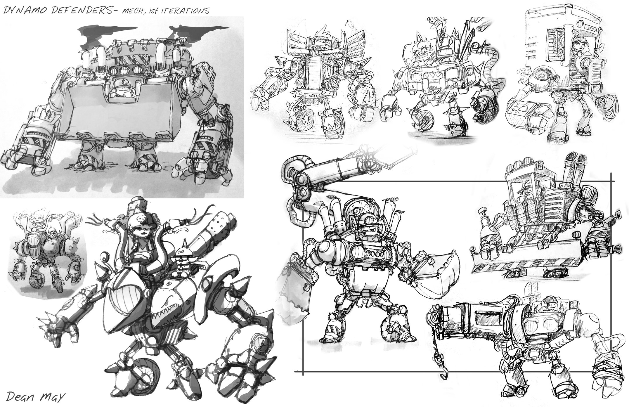 Mobile MOBA Character Designs
