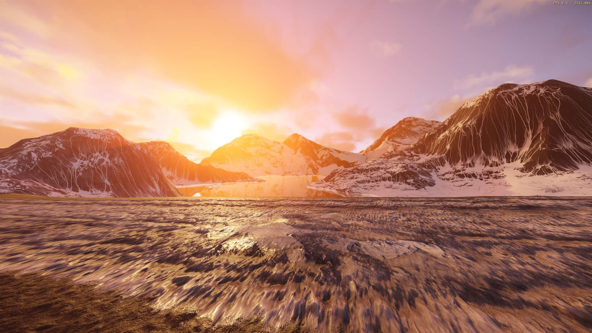 ce5.4}mountain scene help needed on lighting and composition — polycount