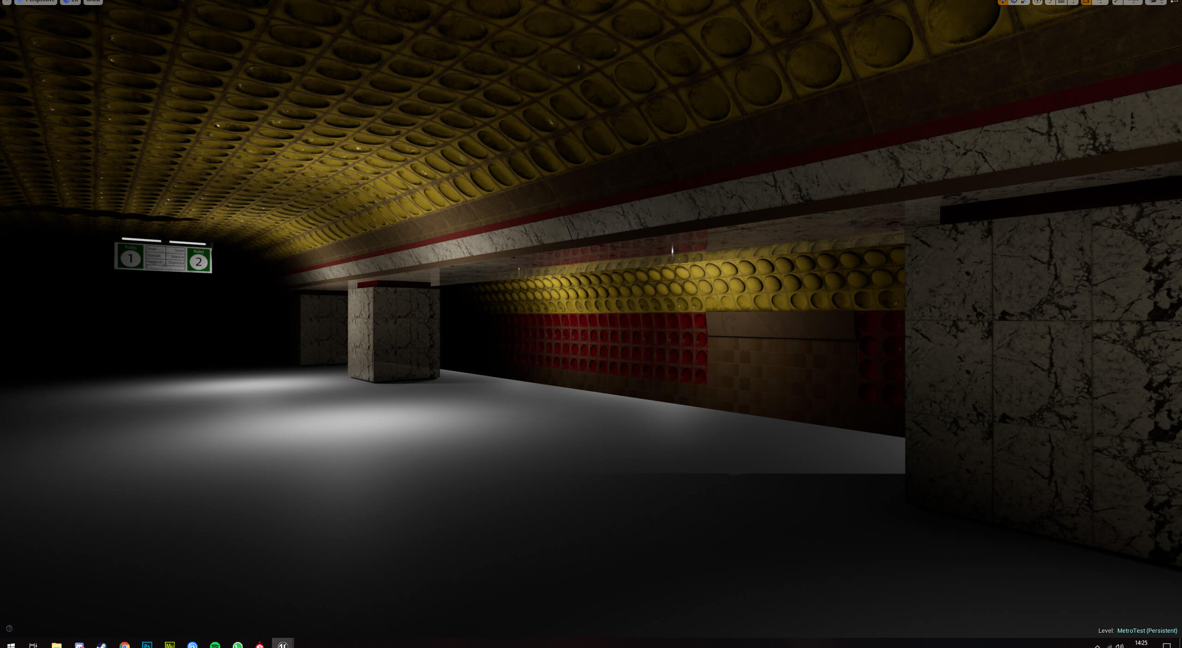 My first 3D project - Prague Metro [UE4] - WIP — polycount