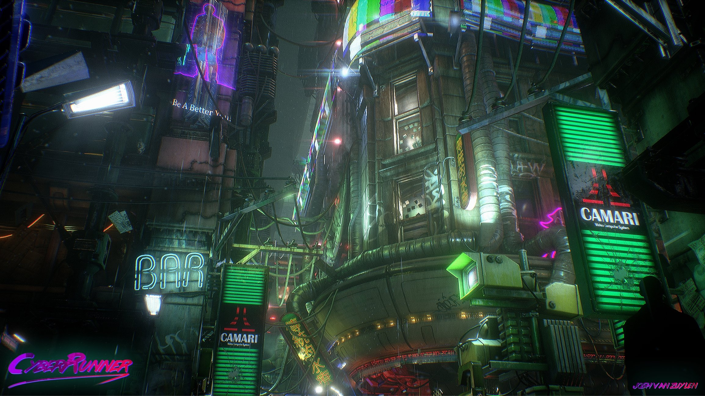 Blade RunnerCyberpunk Streets Polycount