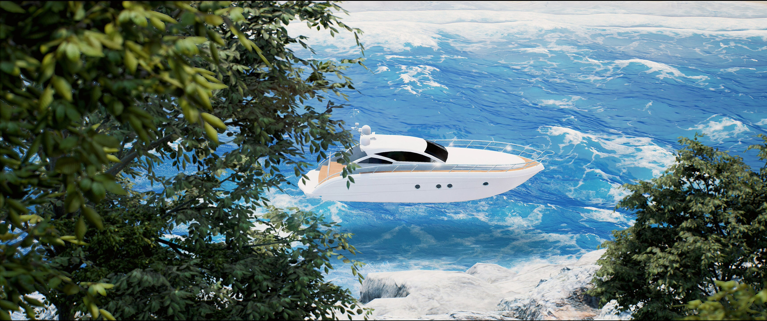 UE4) Nvidia Waveworks study - Sea Restaurant — polycount