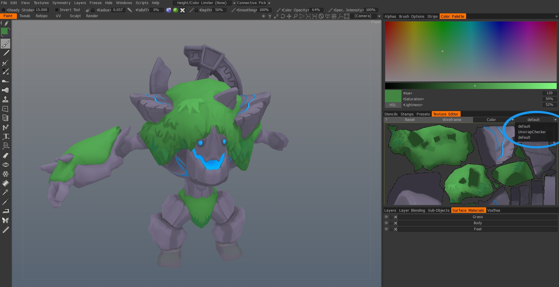 3D coat multiple UV set export issue NEED HELP polycount
