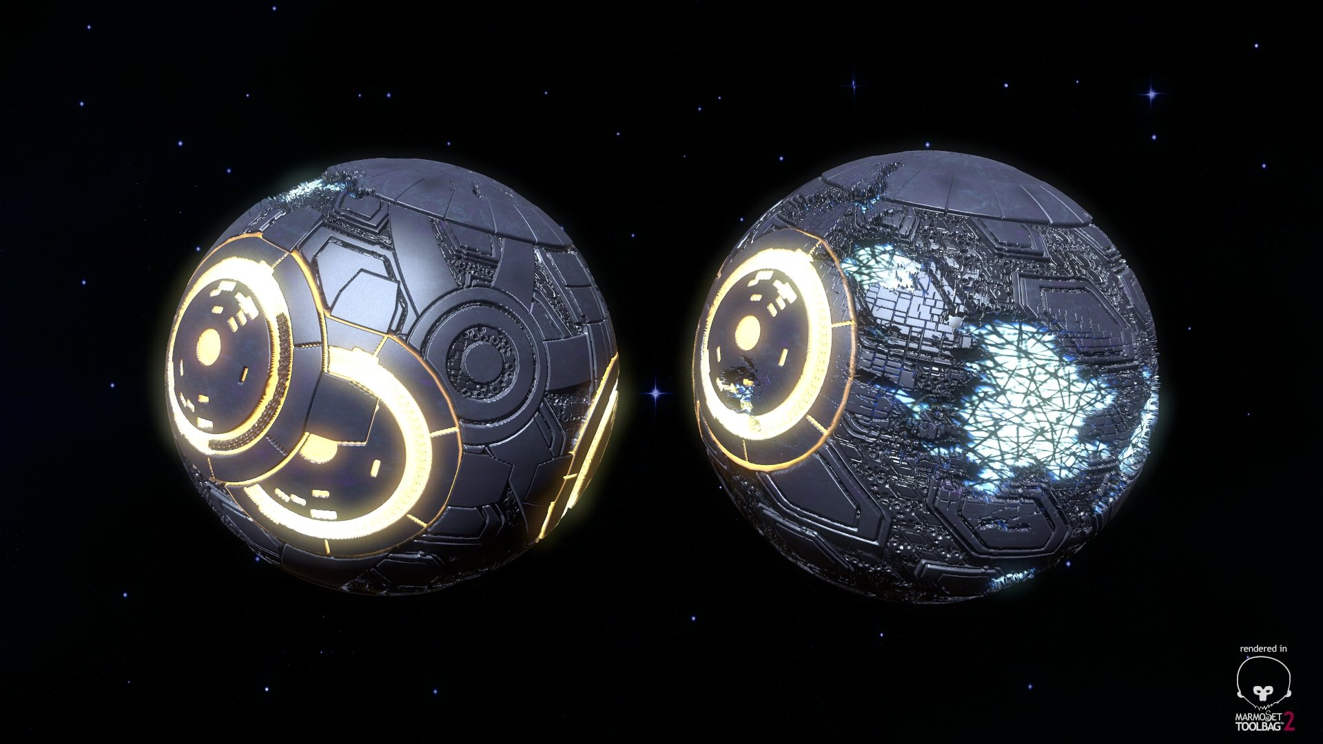 planets and a star in substance designer � polycount