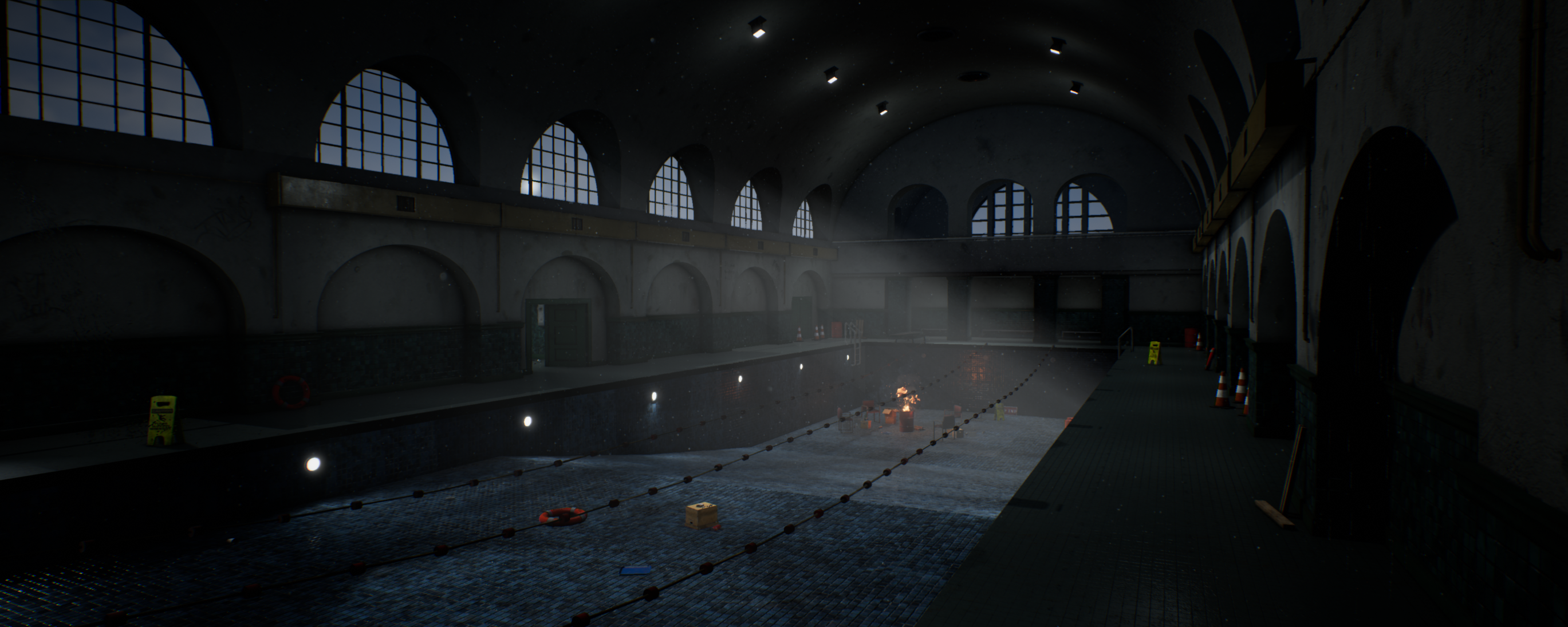 Abandoned Swimming Pool Project Polycount