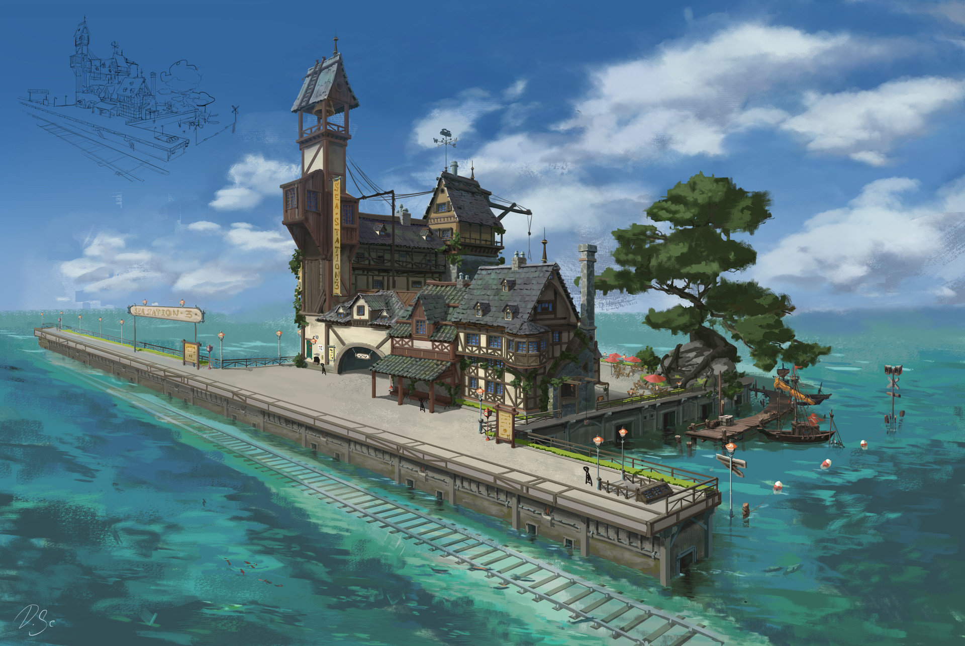 Wip Sea Station A Ue4 Environment Inspired By Spirited Away Polycount
