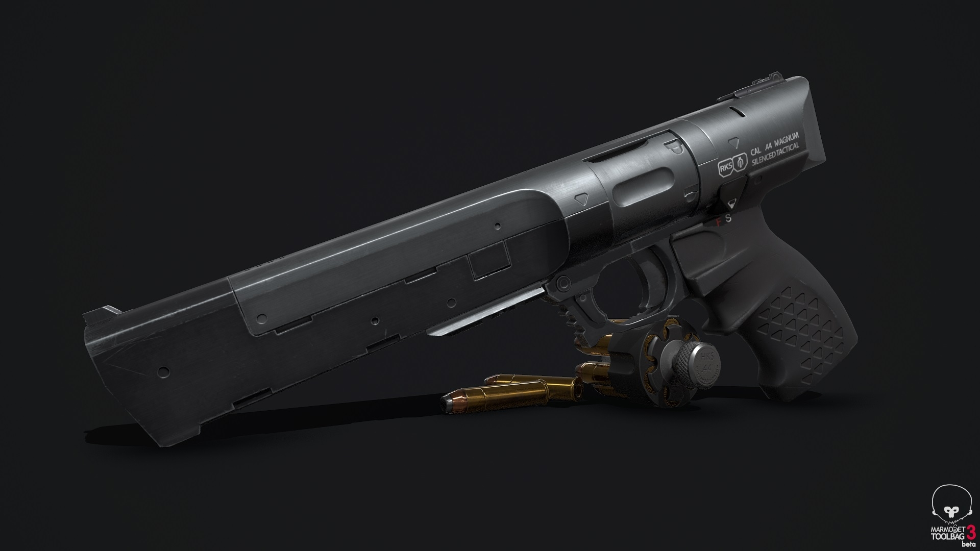 Sci Fi Tactical Revolver — polycount