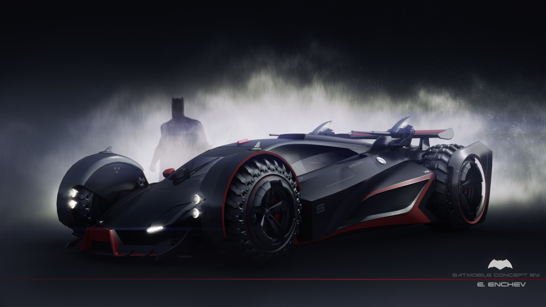 batmobile concept V12 — polycount