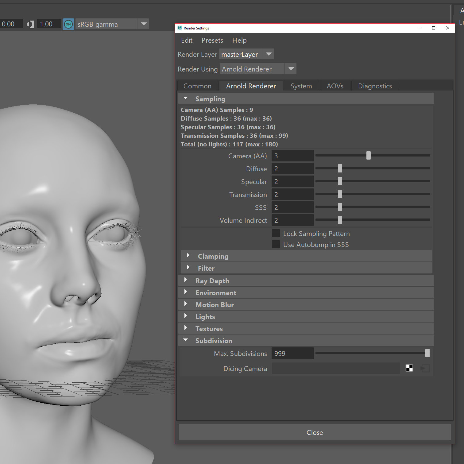 Displacement map in maya — polycount