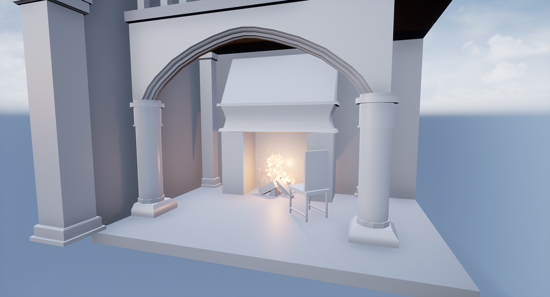 Gothic France Architecture Diorama W I P — polycount