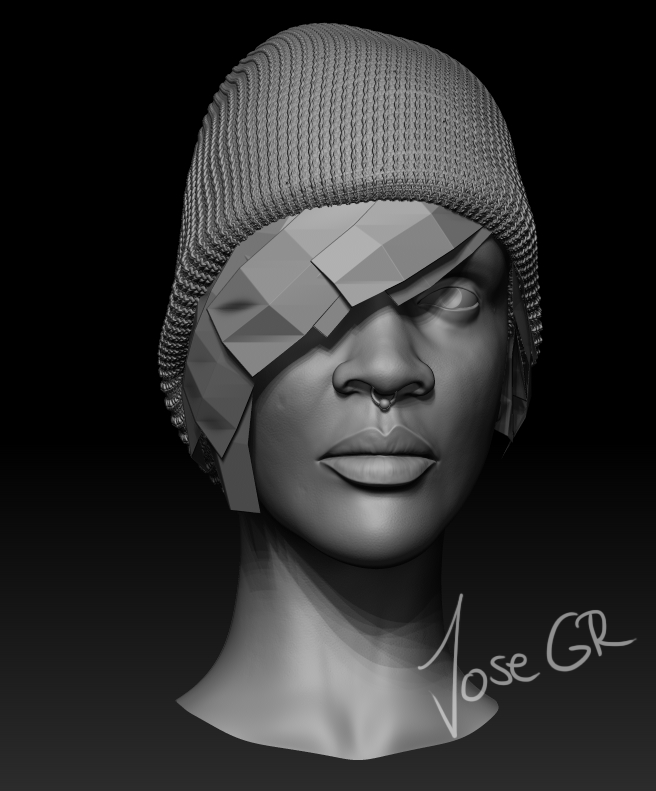 Female bust - Study of female face — polycount