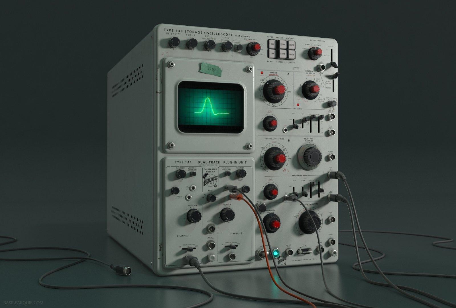 Old Oscilloscope Screen : Wip oscilloscope — polycount