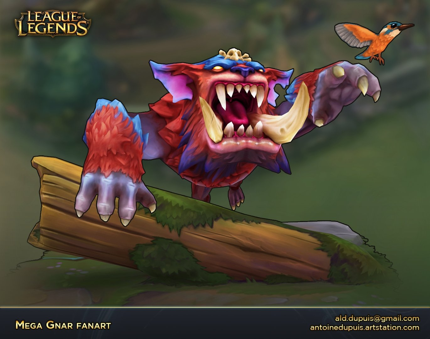 WIP League of Legends - Mega Gnar fan art — polycount