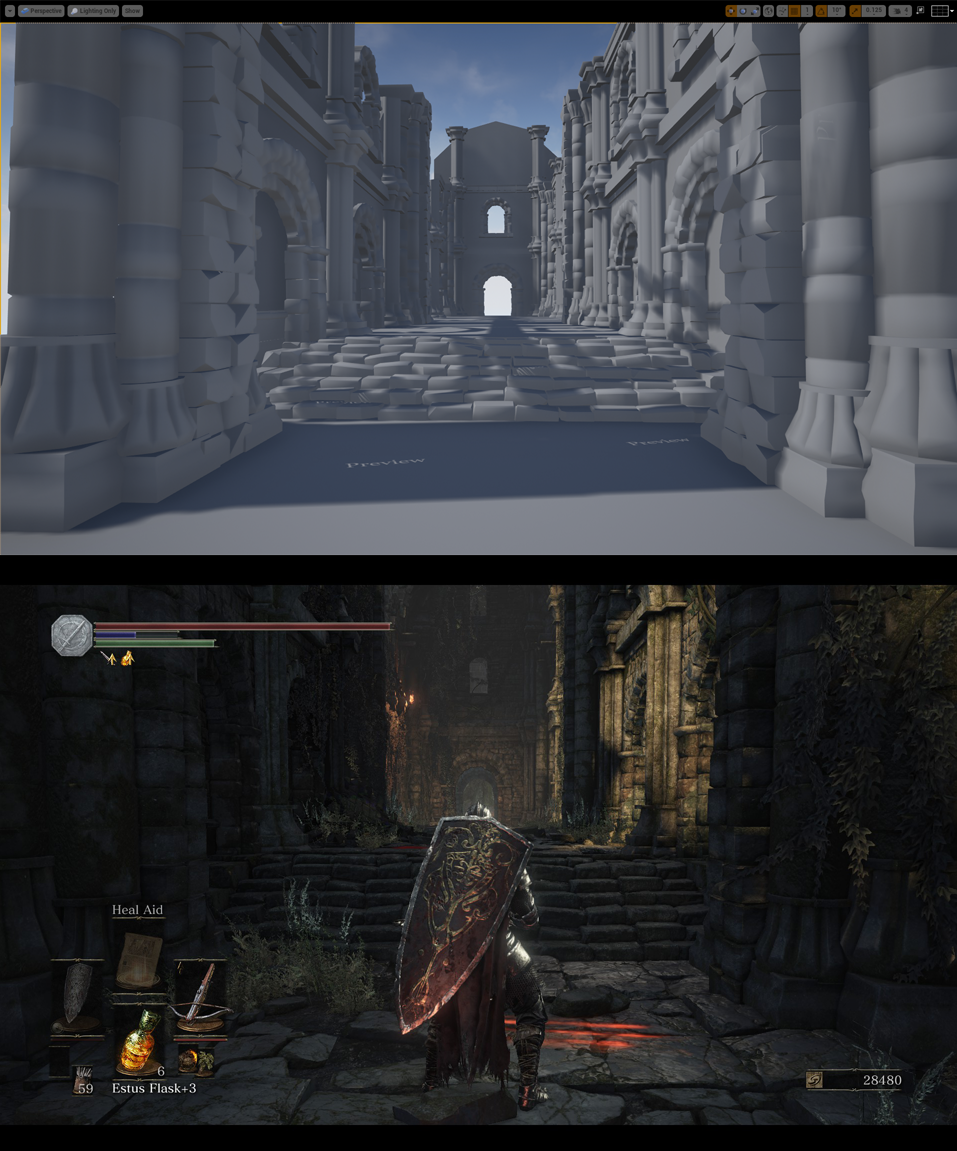 UE4] Dark Souls 3 Environment (Finished) — polycount
