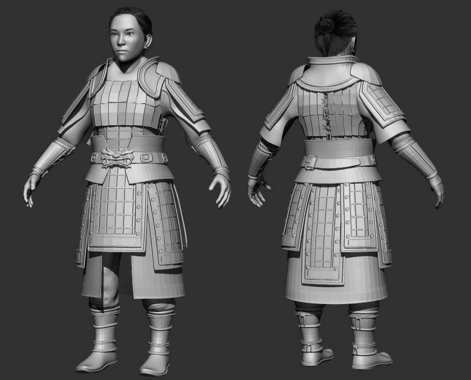 Game ready character - Mulan (wip) — polycount