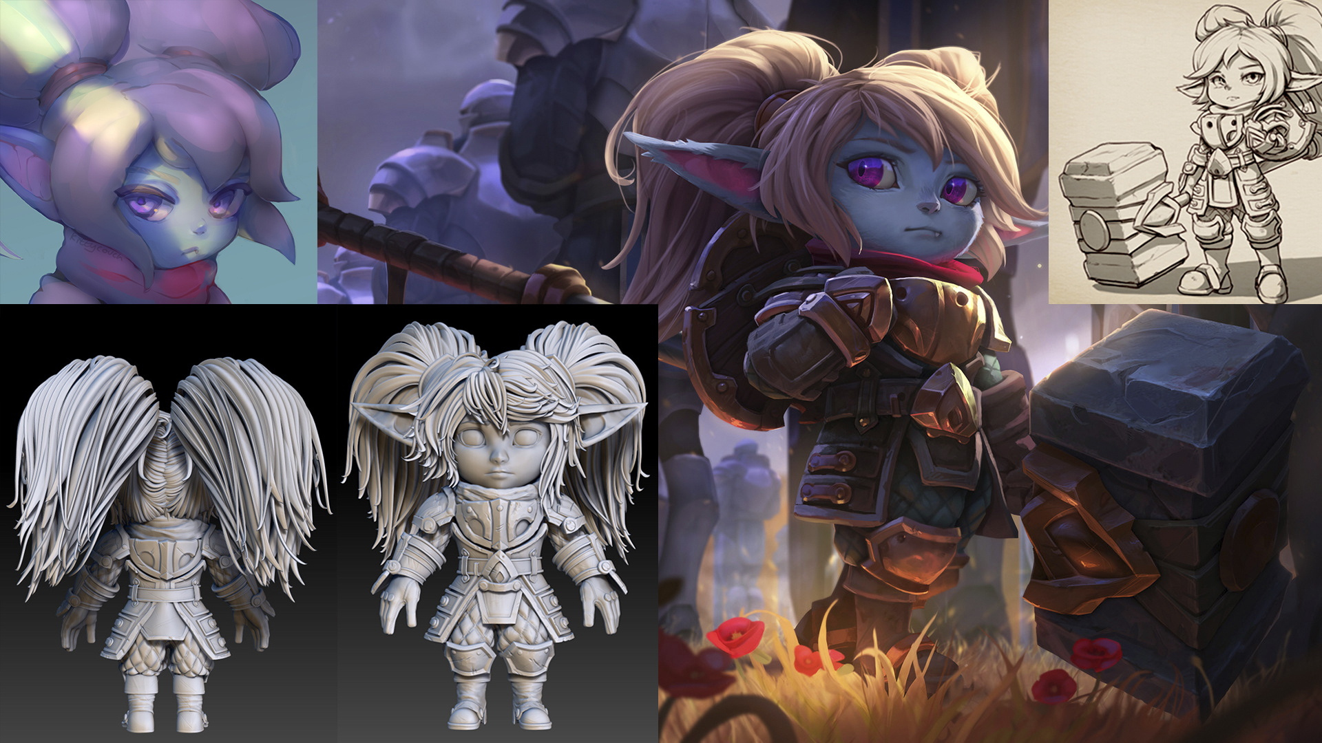 Wip Poppy League Of Legends Polycount