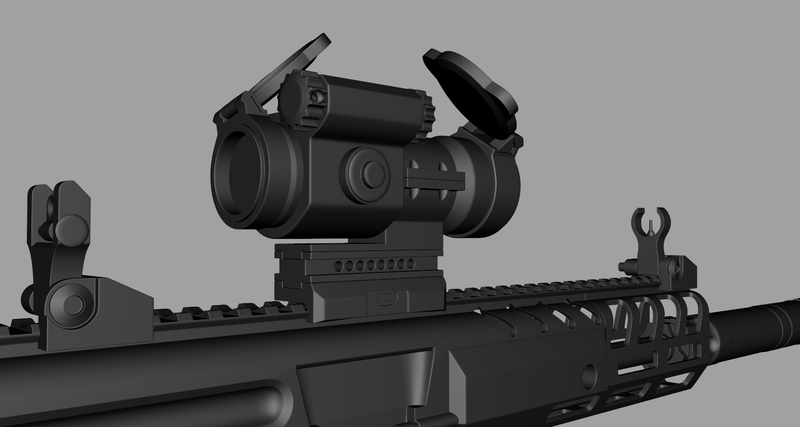 [WIP] Aftermarket MPX SMG (Looking for Criticism) — polycount