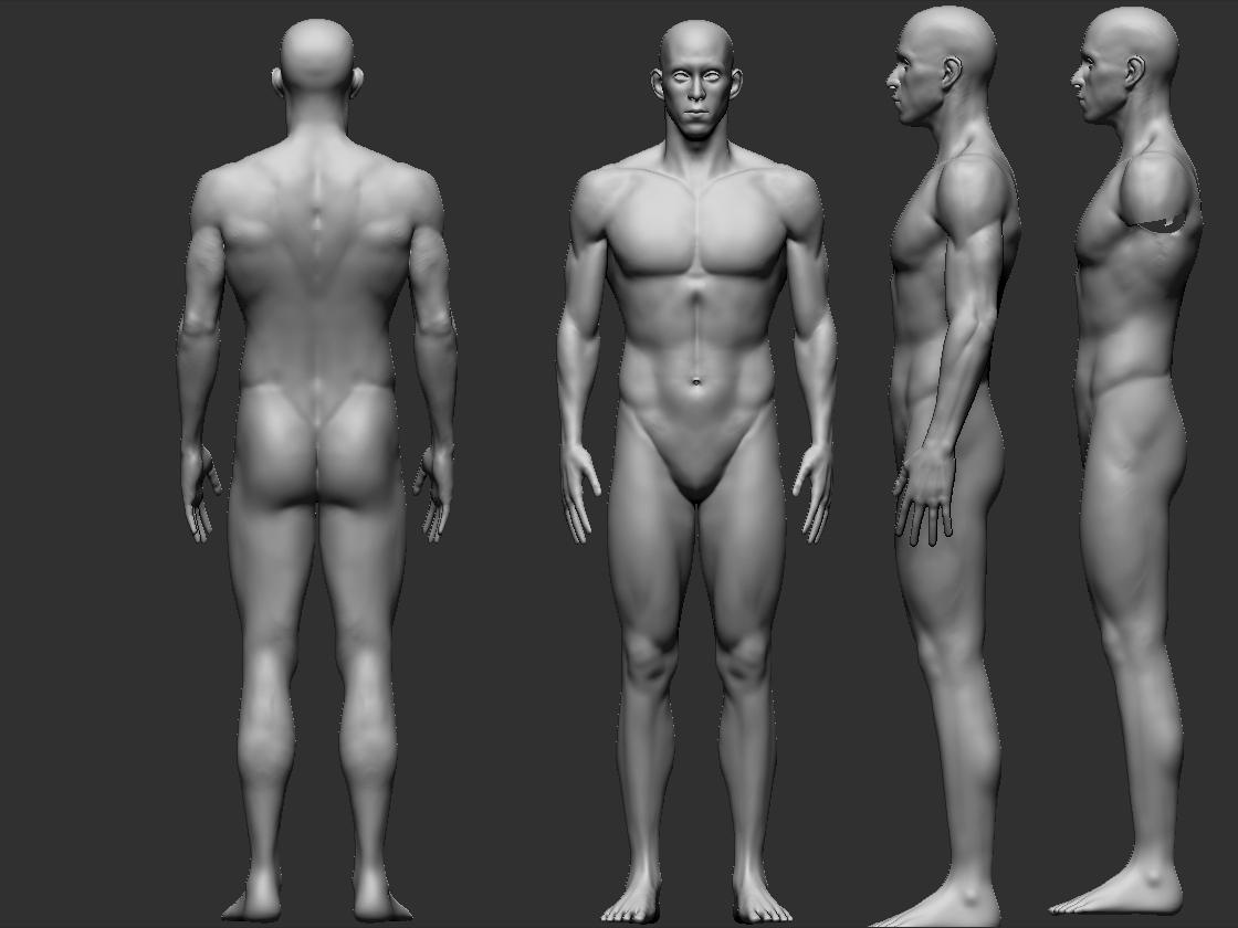 Michael Phelps - Full body likeness — polycount