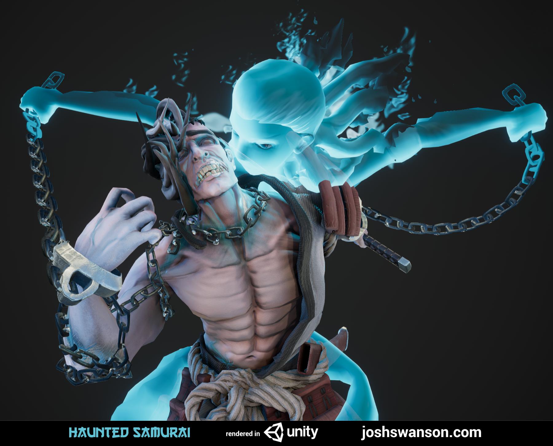 UNITY] Haunted Samurai Character — polycount