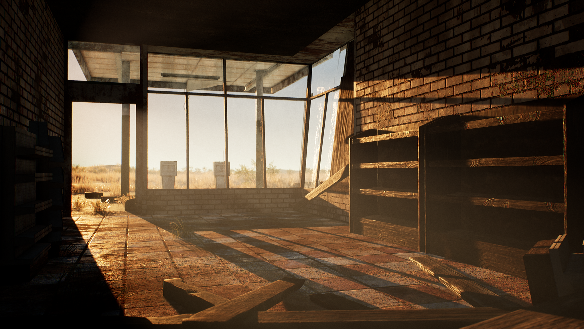 Ue4 Abandoned Gas Station Polycount