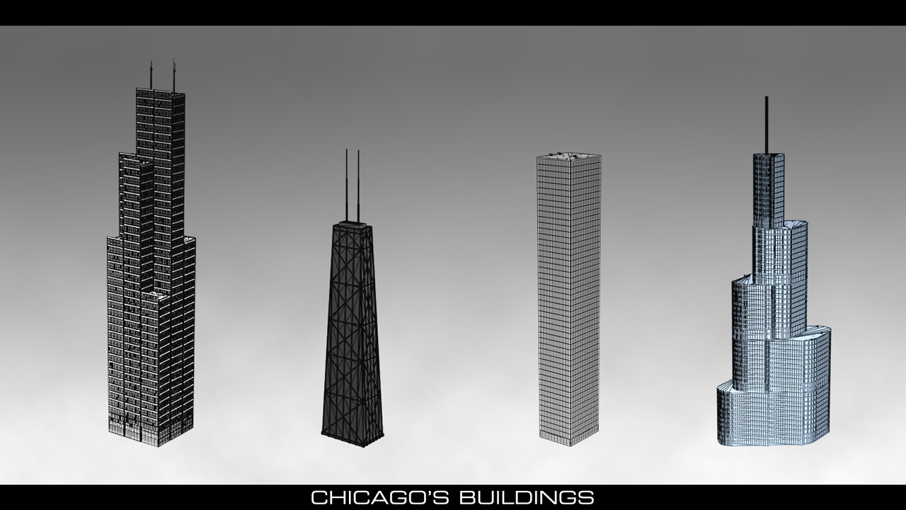 Chicago Second City In The Style Of Watch Dogs Polycount