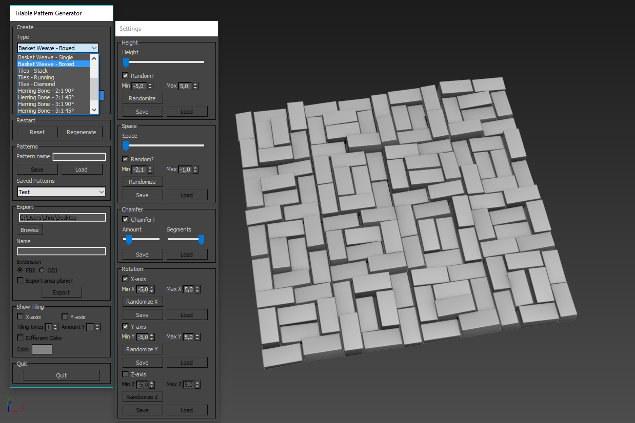 Tileable pattern generator - 3ds Max — polycount