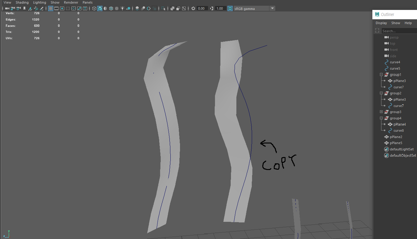 Using curve to place hair card in Maya (Max path deform